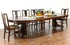 Mission Dining Room Table Arts U0026 Crafts Mission Oak Antique Craftsman Dining Table 6 Leaves
