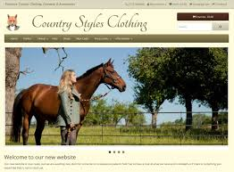 country styles clothing top spin web design