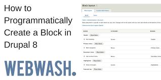 theme drupal menu block how to programmatically create a block in drupal 8 webwash