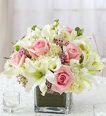 flower centerpieces light pink flower arrangements centerpieces pink and white