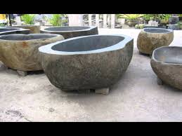 Stone Baths by How It S Made Lux4home River Stone Bathtubs Youtube