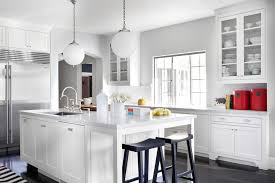 Kitchen Countertops With White Cabinets by Grey Kitchen Cabinets White Countertops Expoluzrd