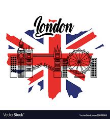 Uk Flag Ai London Flag England Toruism Travel Landmark Symbol