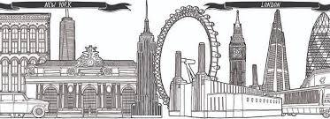 vanity fair magazine skyline sketch illustrations jitesh patel