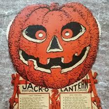 Easel Back Jack O Lantern Fortune Game Halloween Decoration