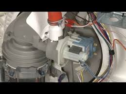 Whirlpool Dishwasher Service Dishwasher Not Draining Noisy Replace Drain Pump 661658 Youtube