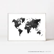 Printable World Map World Map Poster Etsy