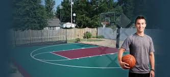 Half Court Basketball Dimensions For A Backyard by 21 U0027 X 25 U0027 Backyard Basketball Courts Duraplay Sports