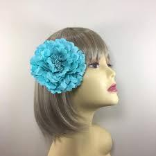 hair fascinator turquoise hair flower fascinator clip turquoise fascinators