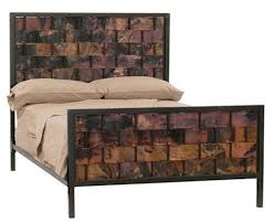 Wood And Iron Bedroom Furniture Stylish Headboards Iron Wood Copper Or Zinc Artisan Crafted