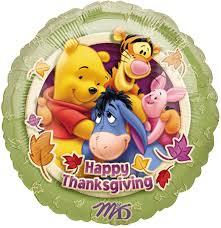 happy thanksgiving autumn themed balloons