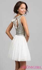 short dress with sequin top sequin dresses promgirl