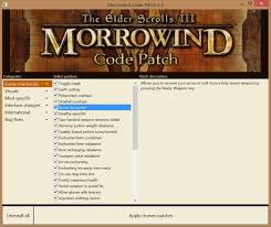 morrowind code patch at morrowind nexus mods and community