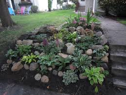 outstanding stone landscaping ideas with lawn garden outstanding backyard rockbine with large grass field