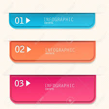 set of bookmarks stickers labels tags numbered banners
