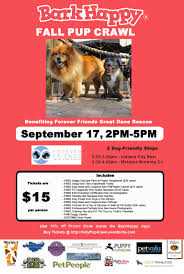 barkhappy indianapolis fall pup crawl to benefit forever friends