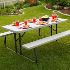 Collapsible Picnic Table 6 Ft Folding Picnic Table 10 Pack Putty