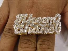 two finger name ring gp two name two finger name ring personalized a2 nikfine