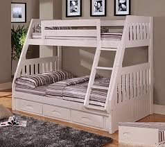 discovery world furniture twin over full white mission bunk bed