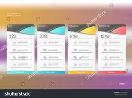 price plan design four banner tariffs price lists web stock vector 624220094