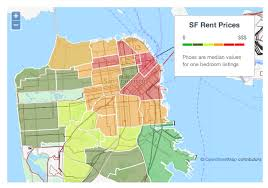 Average Rent Cost by The San Francisco Rent Explosion