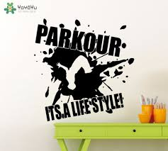 character quote sports yoyoyu street style wall decal quotes parkour its a lifestyle