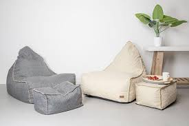 bean bag chair with ottoman vintage bean bag chair and ottoman set the haven trader
