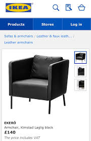 ikea black leather sofa confusion over ikea leather sofas that are actually made from