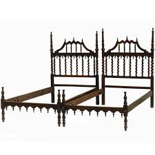 early 20th century pair of twin beds spanish portuguese turned