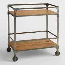 industrial iron wood kitchen trolley natural black buy kitchen industrial furniture rustic industrial chic furniture world market