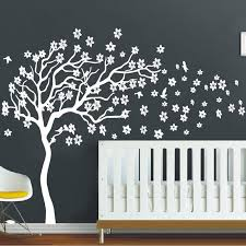 aliexpress buy white tree flowers 3d vinyl wall decal