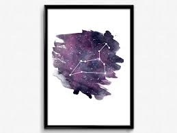 leo zodiac art print constellation art poster zodiac leo