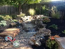 backyard waterfall design lexington kentucky ponds waterfall