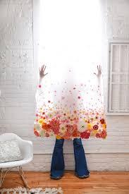 Peach Floral Curtains D E S I G N L O V E F E S T Diy Floral Curtain