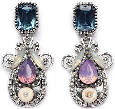 purple drop earrings purple blue large drop earrings