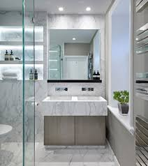 Narrow Bathroom Ideas by White Marble Bathroom In A Home In Yorkshire Uk Designed By Fiona