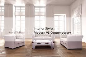 Interior Style Modern VS Contemporary - Contemporary vs modern interior design