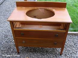 How To Make A Bathroom Vanity How To Make A Dresser Into A Vanity Tutorial