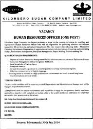 Cover Letter For Human Resources Job Human Resource Officer Tayoa Employment Portal