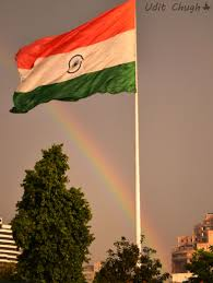 The Indian Flag Rainbow Adding Colors To The Indian Flag Uc Photography