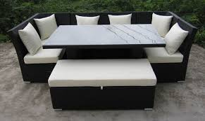 Attractive Outdoor Sofa And Dining Table Dining Room Outdoor - Round outdoor sofa