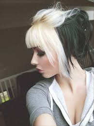 short cut tri color hair short black and white hair color short hairstyles