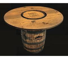 Barrel Bar Table Daniels Amish Style Barrel Bar Table