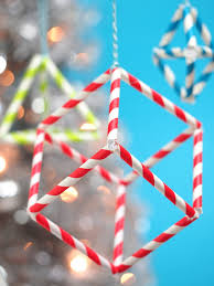 paper straw geometric shape ornaments the pipe cleaner connectors
