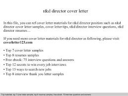r u0026d director cover letter