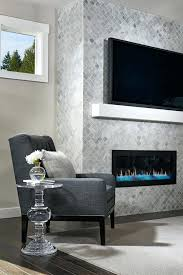 white glass tile fireplace surround interior picture living room