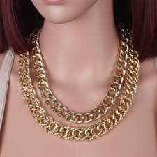 long necklace chain wholesale images Long collier fashion gothic necklace chain metal jewelry women jpg