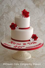 ruby wedding cakes wedding anniversary cake designs by dianne