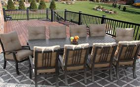 Outdoor Patio Dining Table by Barbados Cushion Outdoor Patio 11pc Dining Set For 10 Person With