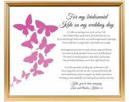 Asking Maid Of Honor Poem Bridesmaid Thank You Poem Thank You For Being My Bridesmaid